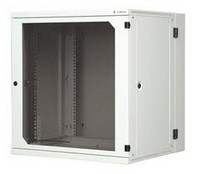 """19"""" 15U two-section wall-mounting rack, depth 600 mm with removable side panels"""