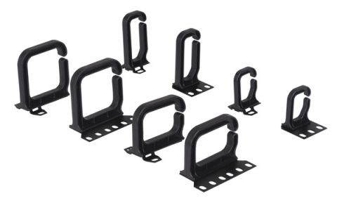 Cable bracket 40 x 80 mm for horizontal cable guiding