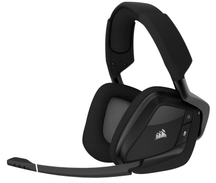 Слушалки с микрофон Corsair Gaming™ VOID PRO RGB Wireless Premium Gaming Headset with Dolby® Headphone 7.1, Carbon Black (EU Version)