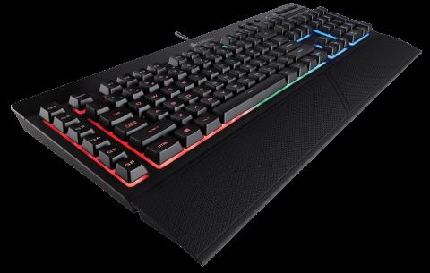 Клавиатура Corsair Gaming™ K55 RGB Keyboard, Backlit RGB LED, 6 Marco Keys (US)
