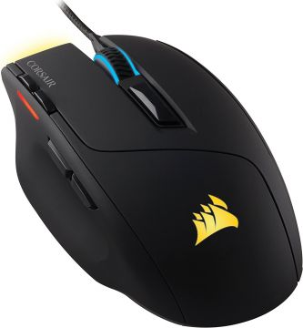 Mишка Corsair Gaming™ SABRE, 4 Zone RGB, 10000 DPI, 16.8M color, Optical Gaming Mouse, USB wired, Black (EU version)