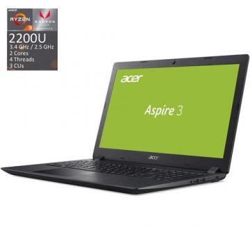 "NEW! NB Acer Aspire 3 A315-41-R3WG/15.6"" FHD Antiglare/ AMD DUAL Core Ryzen™ 3 2200U (2.5GHz - 3.4GHz, 1MB L2 Cache) Video AMD Radeon™ Vega 3/8GB(1x8GB) DDR4/1000GB+(m.2 slot SSD free)/W/o ODD/802.11ac/2CELL/ LINUX, Obsidian Black"