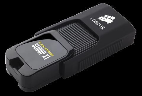 Флаш памет Corsair Voyager Slider X1 USB 3.0 128GB, Capless Design, Read 130MBs, Plug and Play