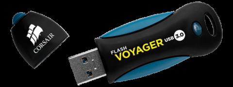 Флаш памет Corsair Voyager 3.0 16GB USB 3.0, read-write: 200MBs, 25MBs