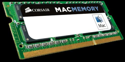 Памет Corsair DDR3, 1333MHz 4GB 1x204 SODIMM, Apple Qualified 1.5V, Unbuffered