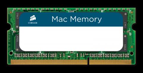 Памет Corsair DDR3L, 1600MHz 8GB (1 x 8GB) 204 SODIMM 1.35V, Apple Qualified, Unbuffered