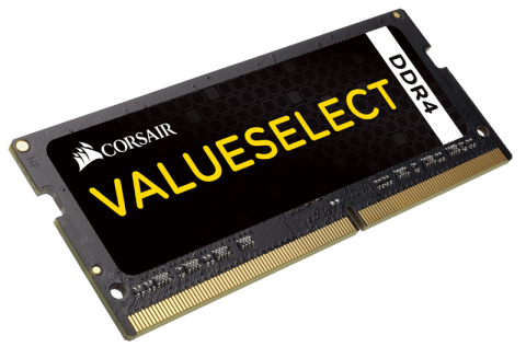 Памет Corsair DDR4, 2400MHz 16GB (1 x 16GB) 260 SODIMM, Unbuffered,16-16-16-39, Black PCB, 1.2V, Intel 6th Generation Intel Core™ i5 and i7 Processor supports