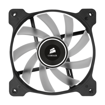 Вентилатор за кутия Corsair Air Series AF120 LED Quiet Edition High Airflow Fan, 120mm x 25mm,  Single Pack, White