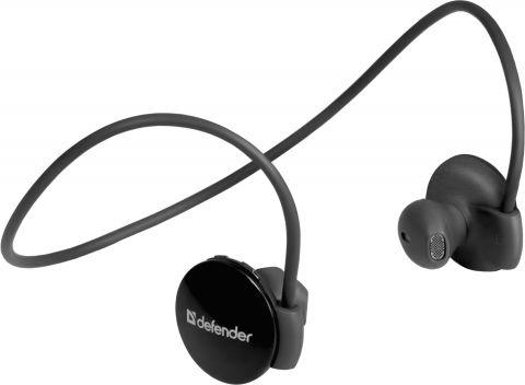 Defender Безжични стерео слушалки FreeMotion B611, In-ear, лента за главата, радиус на действие 10 м, черни Bluetooth