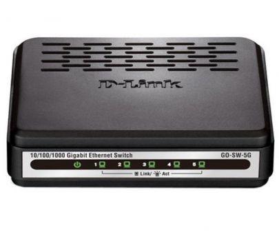 Суич D-Link GO-SW-5G/E неуправляем 5-Port 10/100/1000Mbps Copper Gigabit Ethernet Switch комутатор гигабитов