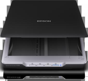 Scanner EPSON Perfection V19,  A4, 4,800dpi x 4,800dpi (Horizontal x Vertical), Input: 48BitsColor, Output: 24BitsColor, RGB colour dropout / enhance, Automatic area segmentation, Text enhancement, Scan to Cloud Storage