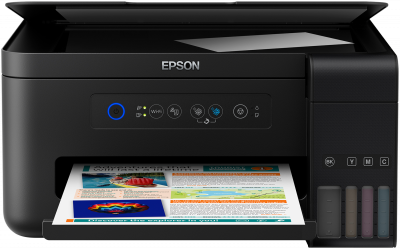 Multifunctional Inkjet Device EPSON L4150, Ink tank system, 4 Ink Cartridges, KCYM