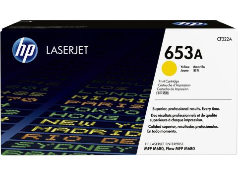 Консуматив HP 653A Original LaserJet cartridge; yellow; 16500 Page Yield ; 1 - pack; HP Color LaserJet Enterprise MFP M680