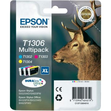 Ink Cartridge EPSON Multipack 3-colours T1306 DURABrite Ultra Ink