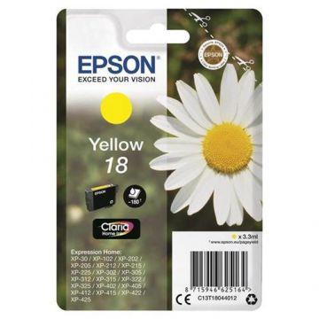 Ink cartridge EPSON Yellow, Claria Home for XP-102, XP-402, XP-405,  XP-405WH, XP-302, XP-305, XP-202