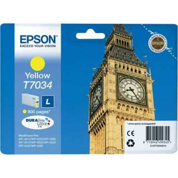 Ink Cartridge EPSON for WP4000/4500/4525 Series Ink Cartridge L Yellow, 0.8k