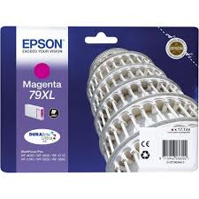 Ink Cartridge EPSON DURABrite™ Ultra, 79XL, Singlepack, 1 x 17.1mlMagenta, High, XL for WorkForce Pro WF-4630DWF/WF-4640DTWF/WF-5110DW/WF-5190DW/WF-5620DWF/WF-5690DWF