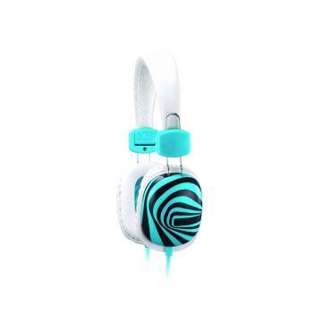 Слушалки Genius HS-M470, 4-pin 3.5mm plug, White - пълноразмерни слушалки с микрофон, управление силата на звука