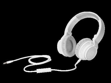 HP H3100 White Wired Headphone