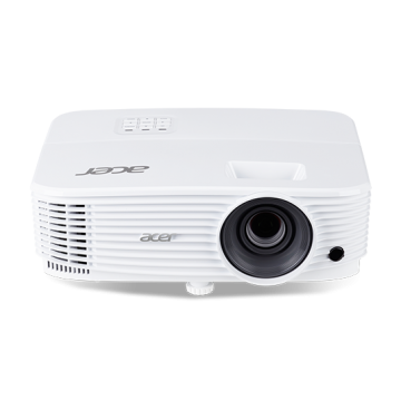 Projector Acer P1250B, DLP 3D, XGA(1024x768), Format 4:3(native)/16:9, 3600 lumens, 20000:1, 1xHDMI,  1xHDMI®/MHL, 2xAnalog RGB(D-sub), RS232 (D-sub); USB(Type A)x2, USB(Mini B)x1; RJ-45, Bag, White, 2.25kg, Bag, 3 years