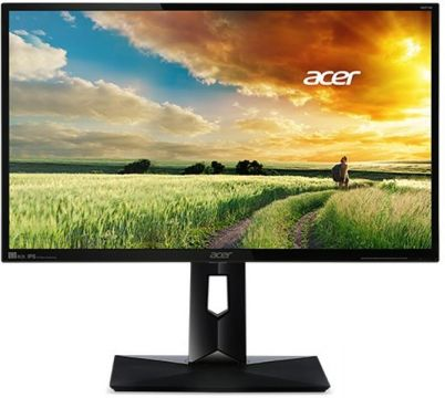 "Monitor Acer CB271HKAbmidprx 69cm (27"") Wide 16:9 ZeroFrame, UHD 4K2K 3840x2160@60Hz;IPS LED, Rsp time  4ms (G to G), Dynamic Contrast ratio 100M:1, ACM, Brightness 300nits, 1x DVI(Dual Link), 1x HDMI 2.0 (HML), 1x DisplayPort(v1.2)  MM Audio In/Out, Heig"