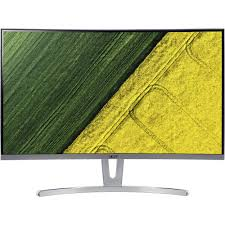 "Monitor Acer ED273wmidx White (27"") 69cm Curved 1800R ZeroFrame, Format: 16:9 Response time: 4ms, Contrast: 100M:1 ACM Brightness: 250nits VA LED DVI HDMI Speakers Audio out EURO/UK EMEA White Acer EcoDisplay, 2 years"