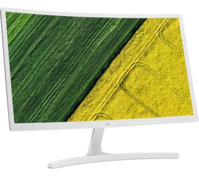 "Monitor Acer ED242Qrwi (White)/ (VA LED)/Curve 1800R form factor/23,6""(60 cm)/Format: 16:9/Resolution: Full HD (1920x1080@75 Hz Refresh Rate AMD FREESYNC Technology)/ Non glare/Response time: 4 ms (G to G)/ Contrast: 100M:1,  Brightness: 250 cd/m2, Viewin"