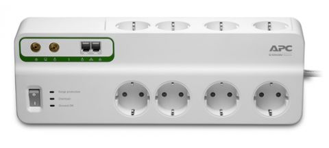 APC Performance SurgeArrest 8 outlets with Phone & Coax Protection 230V Germany