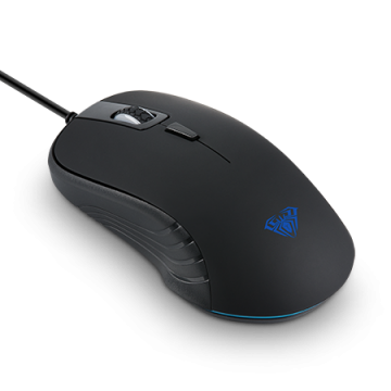 Mишка AULA SI-9003A Tantibus Gaming mouse Optical, Adjustable DPI 800/1200/2000, 4 Buttons, подсветка,125 Hz, ергономичен дизайн, USB,wired, Black