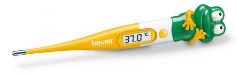 Beurer Детски дигитален термометър жабка - гъвкав връх, измерване за 10 секунди, звуков сигнал при температура над 37,8°C