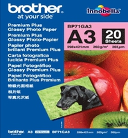 Paper BROTHER 20 sheets glossy A3 paper