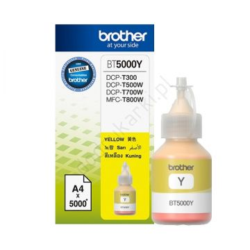 Ink Cartridge BROTHER Yellow  for DCPT300YJ1, DCPT500WYJ1, DCPT700WYJ1, 5000p.
