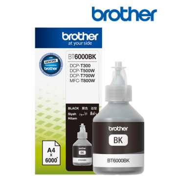 Ink Cartridge BROTHER Black for DCPT300YJ1, DCPT500WYJ1, DCPT700WYJ1, 6000p.