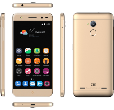 "Smartphone ZTE Blade V7 Lite 2 LTE Dual SIM 5.0"" IPS HD (1280 x 720) / Cortex-A53 Quad-Core 1.0GHz / 16GB Memory / 2GB RAM / Camera 13.0 MP+Flash & AF/5MP / Bluetooth 4.0 / WiFi 802.11 b/g/n / GPS / Battery Li-Ion 2500 mAh / Android 6.0 / Gold"