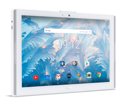 "Tablet Acer Iconia B3-A40-K1AH WiFi/10.1"" IPS (HD 1280 x 800), MTK MT8167 Quad-Core Cortex A35 1.3 GHz/1x2GB/16GB eMMC, Cam (2MP front, rear 5 MP 1080p FHD)/G-sensor, Micro USB, microSD™, Android™ 7.0 (Nougat), White"