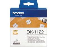 Square Paper Label BROTHER 23MM X 23MM X 1000