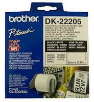 Paper BROTHER Tape Continuous 62mm x 30.48m for QL-5xx