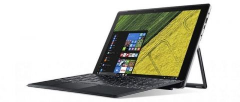 "WEEKLY PROMO! Acer Switch 5 SW512-52-77TA (Подарък Acer Active Stylus! )/12"" IPS, WQHD Multi-Touch (2160 x 1440)/Intel HD Graphics 620 / Intel Core i7-7500U (2.7/3.50GHz, 4M), 1x8GB /256GB SSD/1x USB 3.0 /1x USB Type-C /802.11a/b/g/n/ac /BT/2CELL/Windows"