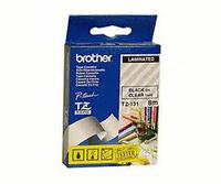 TZ Tape BROTHER 9mm Black on Clear, Laminated, 8m lenght, for P-Touch