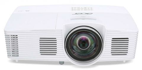 Projector Acer S1283e, DLP® 3D Ready, Short-Throw, Resol.: XGA(1024x768), Format: 4:3, Contrast: 13000:1, Brightness: 3100 lumens, ExtremeEco lamp life 8000h, Input: 1xComposite Video, 2xVGA, 1 x S-Video,1 x USB (Mini-B), Output Interface: Analog RGB(D-su