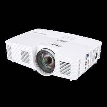 PJ Acer H6517ST Short-Throw, Native 1080p, DLP® 3D Ready, Full HD 1080p (Data), Contrast:   10 000:1 DynamicBlack, Brightnes: 3000 lumens, Input: Analog RGB/Comp.Video (D-sub)x1; Composite Video (RCA)x1; HDMI (Video, Audio, HDCP)x1; HDMI/MHL; PC Audio; Co