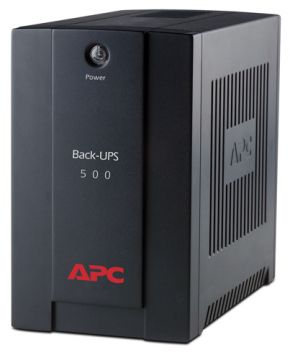APC Back-UPS 500VA,AVR, IEC outlets , w/o USB  connectivity