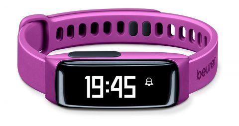 Beurer Фитнес гривна -  Bluetooth®, HealthManager App, следи дневните активности (брой изминати крачки, изминати километри, изразходвани калоирии ) и качеството на съня, цвят лилав