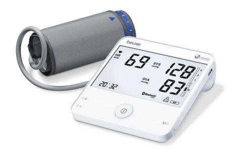 Beurer Апарат за измерване на кръвно налягане с маншон (22-42см), функция ЕКГ, Bluetooth®, USB, съвременен индикатор за аритмия (включително атриална фибрилация и екстрасистоли), Beurer CardioExpert App, цветна индикация за рискови стойности, цвят бял