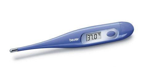 Beurer Дигитален термометър - автоматично изключване, водоустойчив цвят син