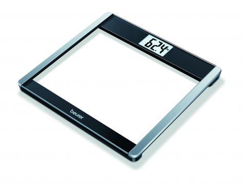 Beurer Електронна стъклена везна, Bluetooth®, Beurer HealthManager App, LCD дисплей, измерва AMR/BMR и BMI, запаметяване на 8 потребителя