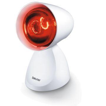 Beurer Инфрачервена лампа - 100W, 5 позиции на накланяне на лампата, подходяща при настинки и мускулно напрежение, цвят бял