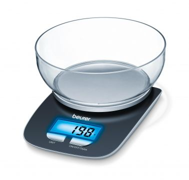 Beurer Електронна кухненска везна с 1,2л купа, LCD дисплей
