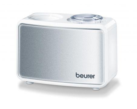 Beurer Мини овлажнител за въздух, ултразвуковото овлажняване, може да се използва със стандартна бутилка с обем 0.5 л, за стаи до 20 m², осветени бутони, авт.изключване