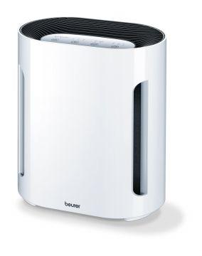 Beurer Пречиствател за въздух - 50W, подходящ за помещения с размери до 15 м², трислойна филтърна система (вкл. HEPA филтър), 3 настойки, функция за пречистван с йони, осветен контролен панел, цвят бял